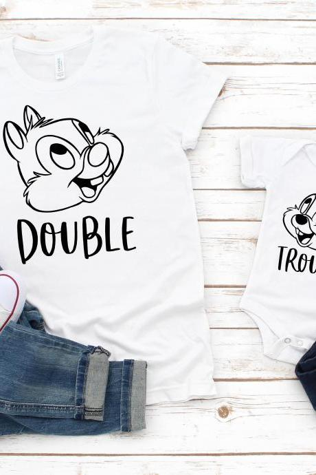 BFF T-Shirts | Double Trouble | Chip and Dale Disney Shirts | Disney Shirts for Women | Best Friends Disney Shirts | Disney Shirt | Matching