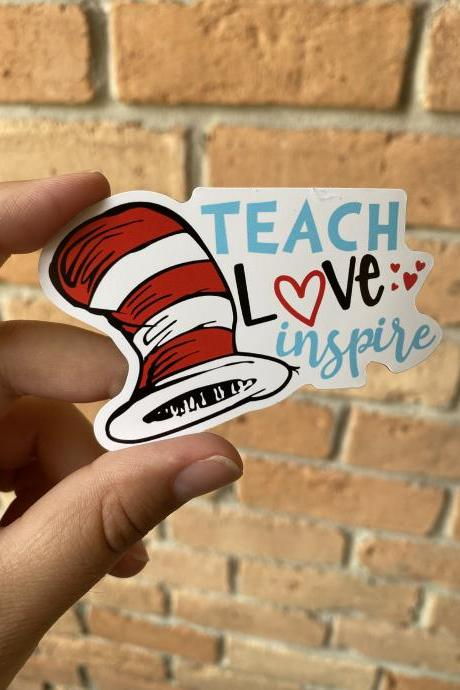 Teach Love Inspire Magnet| Teacher Magnets| Teacher Appreciation Gift